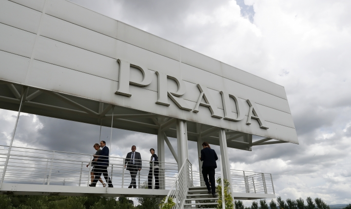 A view of Prada's new industrial headquarters and production site, in Valvigna, Italy, Friday, June 8, 2018. Prada CEO Patrizio Bertelli said Friday that the family-controlled Italian fashion group has no intention of selling and that his elder son with co-CEO and creative director Miuccia Prada is being groomed to take over. (AP Photo/Antonio Calanni)