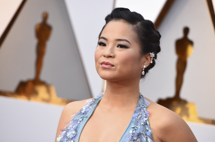 "FILE - In this Sunday, March 4, 2018 file photo,Kelly Marie Tran arrives at the Oscars, at the Dolby Theatre in Los Angeles. The dark side of ""Star Wars"" fandom recently reared its head when Kelly Marie Tran, the actress who plays Rose in ""Star Wars: The Last Jedi,"" was run off Instagram by misogynistic and racist messages from fans who didn't like her character in the movie. Such toxic exchanges have long been a staple of darker social-media realms, fan-group message boards and comments pages. But the abuse heaped on Tran sparked a backlash of its own. (Photo by Jordan Strauss/Invision/AP, File)"