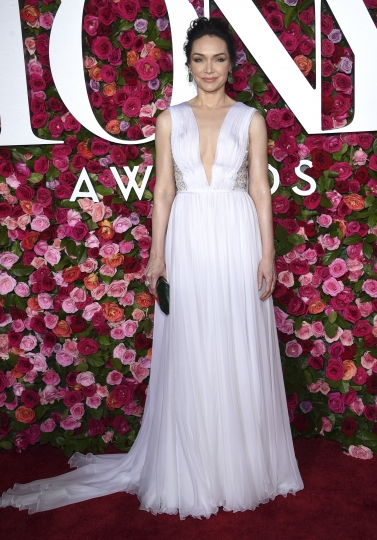Katrina Lenk arrives at the 72nd annual Tony Awards at Radio City Music Hall on Sunday, June 10, 2018, in New York. (Photo by Evan Agostini/Invision/AP)
