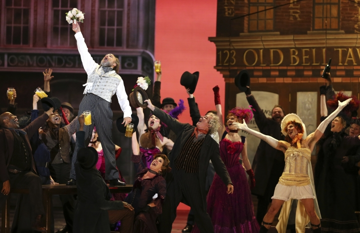 """The cast of """"My Fair Lady"""" performs at the 72nd annual Tony Awards at Radio City Music Hall on Sunday, June 10, 2018, in New York. (Photo by Michael Zorn/Invision/AP)"""