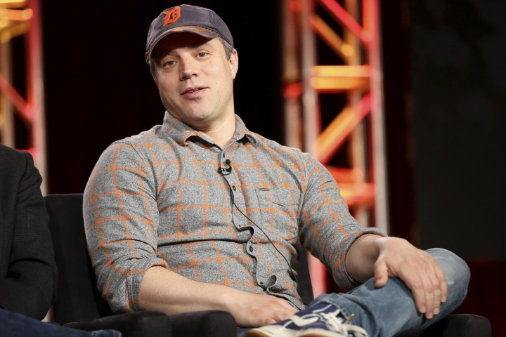 "FILE - In this Jan. 9, 2018 file photo, President and Chief Creative Officer at DC Entertainment Geoff Johns participates in the ""Krypton"" panel during the NBCUniversal Television Critics Association Winter Press Tour in Pasadena, Calif. Johns, who co-produced ""Justice League,"" is exiting both roles to focus on creative matters full time. Warner Bros. executive and DC's interim head Thomas Gewecke said Monday, June 11, 2018 that Johns is launching a production company to develop a film and other projects in film, television and comic books. (Photo by Willy Sanjuan/Invision/AP, File)"