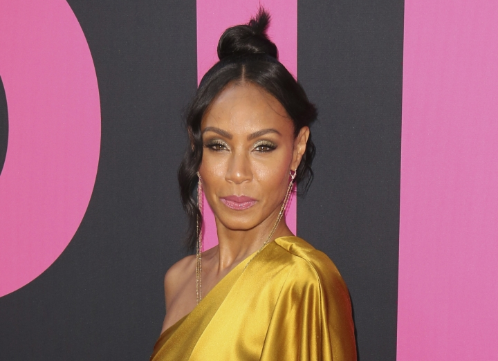 """FILE - In this July 13, 2017 file photo, Jada Pinkett Smith arrives at the world premiere of """"Girls Trip"""" in Los Angeles. Pinkett Smith hosts a multi-generational Facebook show Red Table Talk. (Photo by Willy Sanjuan/Invision/AP, File)"""