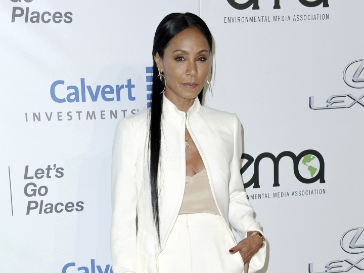 FILE - In this Oct. 22, 2016 file photo, Jada Pinkett Smith attends the 26th Annual EMA Awards in Burbank, Calif. Pinkett Smith hosts a multi-generational Facebook show Red Table Talk. (Photo by Richard Shotwell/Invision/AP, File)