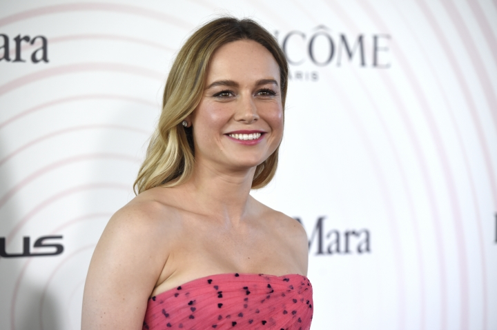 Brie Larson arrives at the Women In Film Crystal and Lucy Awards at the Beverly Hilton Hotel on Wednesday, June 13, 2018, in Beverly Hills, Calif. (Photo by Chris Pizzello/Invision/AP)