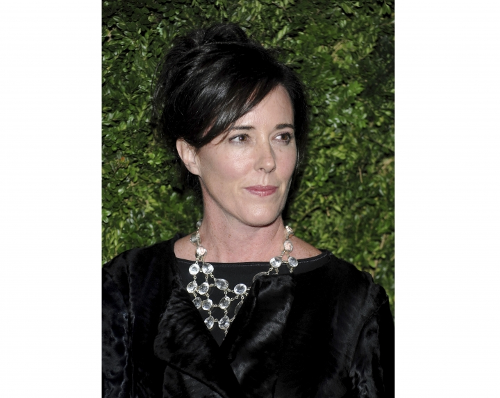 FILE - In this Nov. 17, 2008 file photo, designer Kate Spade attends the CFDA/Vogue Fashion Fund finalists event in New York. Kate Spade New York has announced plans to donate $1 million to support suicide prevention and mental health awareness causes in tribute to the company's late founder. The 55-year-old fashion designer killed herself June 5, 2018. Her husband says she suffered from depression and anxiety for many years. (AP Photo/Evan Agostini, File)