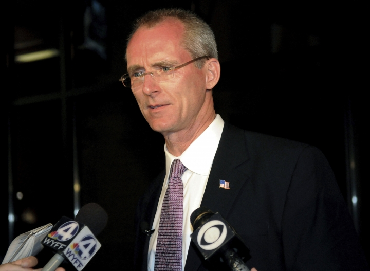 "FILE - In this June 22, 2010, file photo, Bob Inglis speaks to the media after his loss in the runoff election to Trey Gowdy in Greenville, S.C. Three decades after early warnings about global warming, the issue has become entrenched in the nation's culture wars. Some in the GOP used to lead the fight against warming. Now most Republicans cannot speak the words ""climate change."" Let alone support policies to address it. Many Democrats have moved sharply to the left on environmental issues as well. Climate change is as polarized as abortion. (AP Photo/ Richard Shiro)"