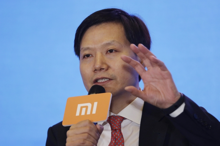 Xiaomi's Founder, Chairman and CEO Jun Lei speaks at a news conference in Hong Kong, Saturday, June 23, 2018. Xiaomi Corp. said it seeks to raise up to $6.1 billion in its initial public offering next week that would value the Chinese smartphone maker at as much as $70.3 billion. (AP Photo/Kin Cheung)