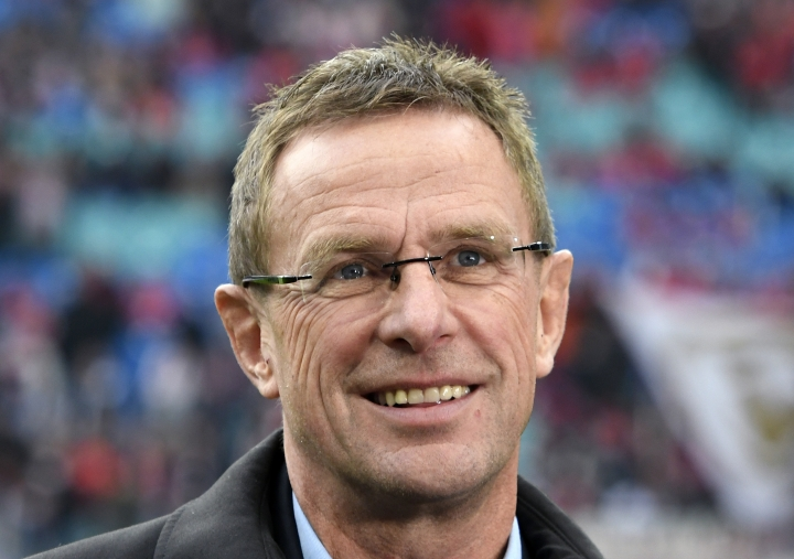 FILE - In this Nov. 6, 2016 file photo, Leipzig sports director Ralf Rangnick prior to the German first division Bundesliga soccer match against FSV Mainz 05 in Leipzig, Germany. The Bundesliga side said Monday July 9, 2018, that Leipzig's sporting director Ralf Rangnick is taking over as coach. (AP Photo/Jens Meyer, file)
