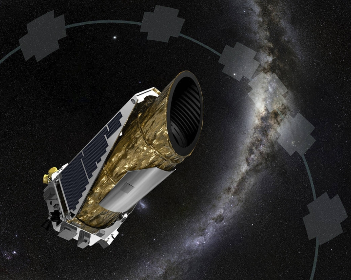 This undated artist's concept provided by NASA shows the Kepler spacecraft. NASA's Kepler Space Telescope is almost out of fuel and has been forced to take a nap. Flight controllers recently placed the planet-hunting spacecraft into hibernation to save energy. It will remain asleep until early August, when controllers attempt to send down the data collected before observations were interrupted. Launched in 2009, Kepler has been searching for planets outside our solar system for nearly a decade. (NASA via AP)