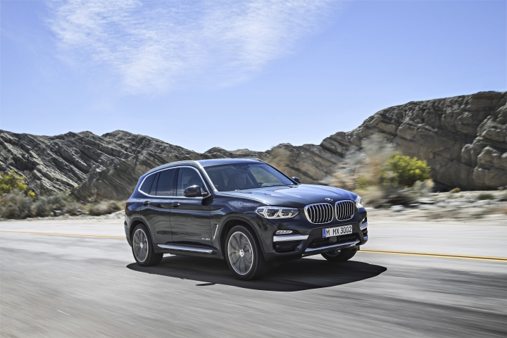This undated photo provided by BMW shows the 2018 BMW X3, a luxury compact SUV with more traditional design and a starting price of $41,995, including the destination fee. The Audi Q5 and the BMW X3 are two of the most popular compact luxury SUVs out today. Shoppers are typically drawn to the Q5 and the X3 because of their appealing mix of refinement, utility, safety and performance. (Courtesy of BMW of North America via AP)