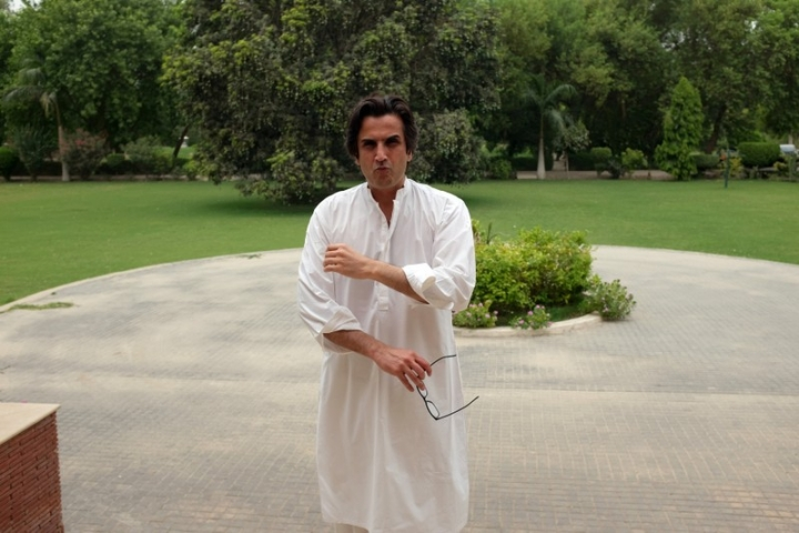 Makhdum Khusro Bakhtyar, a Pakistani landowner and politician poses for a picture after an interview with Reuters at his home in Mianwali Qureshian, a village in southern Punjab, Pakistan June 27, 2018. Picture taken June 27, 2018. REUTERS/Drazen Jorgic
