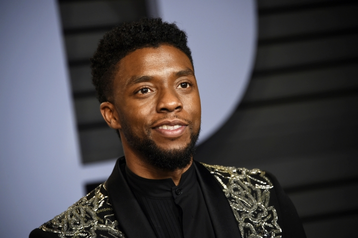 "FILE - In this March 4, 2018 file photo, Chadwick Boseman arrives at the Vanity Fair Oscar Party in Beverly Hills, Calif. STX Entertainment announced Wednesday, July 11, 2018, that Boseman will star as a disgraced NYPD detective thrust into a citywide manhunt for a cop killer in ""17 Bridges."" The film will be Boseman's first non-Marvel movie following the $1.3 billion box-office success of ""Black Panther."" (Photo by Evan Agostini/Invision/AP, File)"