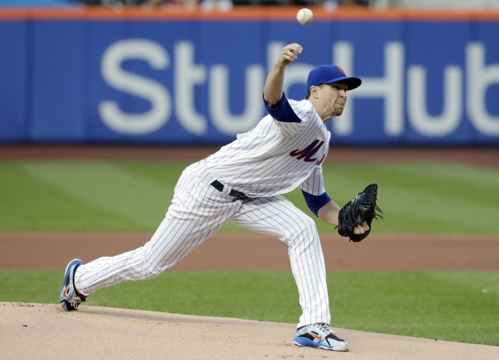 New York Mets' Jacob deGrom delivers a pitch during the first inning of the team's baseball game against the Philadelphia Phillies on Wednesday, July 11, 2018, in New York. (AP Photo/Frank Franklin II)