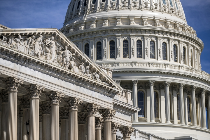 FILE - In this June 15, 2018, file photo, the Capitol is seen in Washington. On Thursday, July 12, the Treasury Department releases federal budget data for June. (AP Photo/J. Scott Applewhite, File)