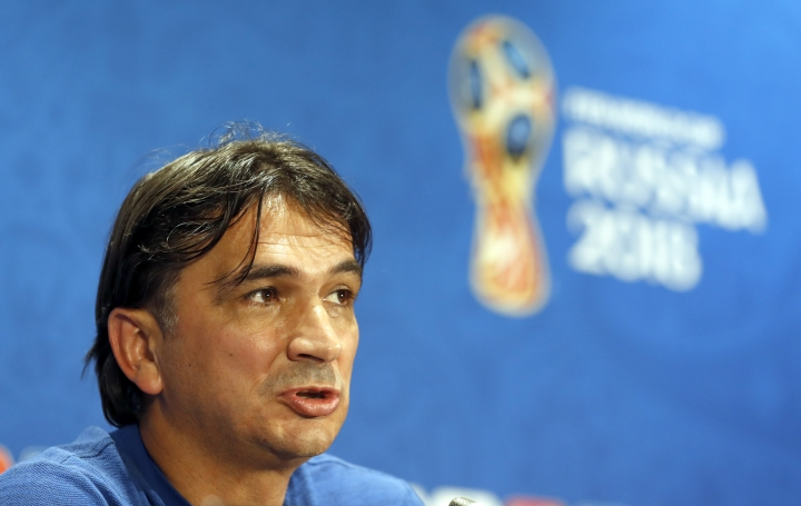 Croatia head coach Zlatko Dalic answers a question during a news a press conference at the 2018 soccer World Cup in Moscow, Russia, Thursday, July 12, 2018. (AP Photo/Darko Bandic)