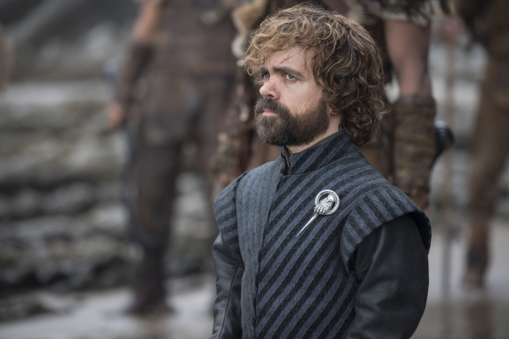 "This image released by HBO shows Peter Dinklage in a scene from ""Game of Thrones."" Dinklage was nominated Thursday for an Emmy for outstanding supporting actor in a drama series. The 70th Emmy Awards will be held on Monday, Sept. 17. (HBO via AP)"