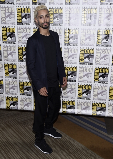 "Riz Ahmed attends the ""Venom"" press line on day two of Comic-Con International on Friday, July 20, 2018, in San Diego. (Photo by Chris Pizzello/Invision/AP)"