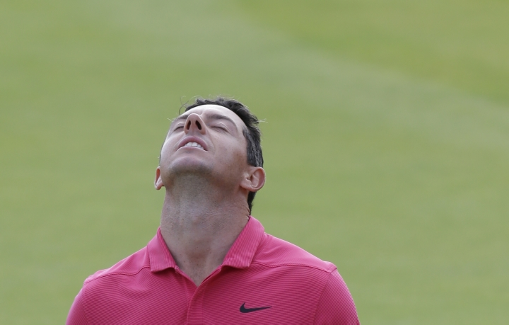 Rory McIlroy of Northern Ireland on the 18th green after the final round for the 147th British Open Golf championships in Carnoustie, Scotland, Sunday, July 22, 2018. (AP Photo/Martin Cleaver)