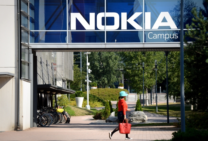 Headquarters of Finnish telecommunication network company Nokia pictured in Espoo, Finland, Thursday July 26, 2018. Nokia announced it's second quarter 2018 financial results on Thursday. (Mikko Stig/Lehtikuva via AP)