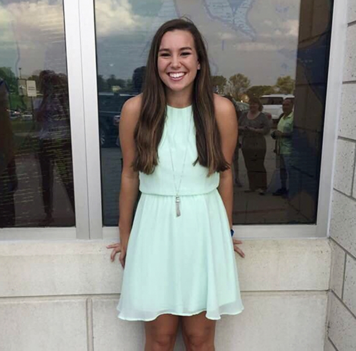 This undated photo released by the Iowa Department of Criminal Investigation shows Mollie Tibbetts, a University of Iowa student who was reported missing from her hometown in the eastern Iowa city of Brooklyn on Thursday, July 19, 2018. A neighbor reported seeing her going for a jog Wednesday evening. The Poweshiek County Sheriff's Office said Monday, July 23, 2018, that Tibbetts had not been found. (Iowa Department of Criminal Investigation via AP)