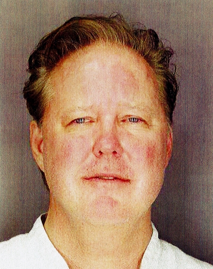 This undated photo provided by Sag Harbor Village Police Department on Monday Aug. 6, 2018, shows Brian France, chairman of NASCAR, taken after his arrest in New York's Hamptons for driving while intoxicated and criminal possession of oxycodone. (Sag Harbor Village Police Department via AP)