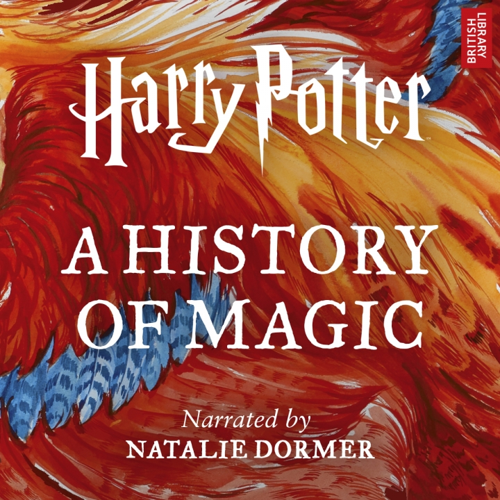 "This cover image released by Audible shows ""Harry Potter: A History of Magic,"" an audiobook narrated by Natalie Dormer that will go on sale on Oct. 4. (Audible via AP)"