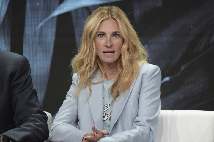 "Julia Roberts participates in the ""Homecoming"" panel during the TCA Summer Press Tour on Saturday, July 28, 2018, in Beverly Hills, Calif. (Photo by Richard Shotwell/Invision/AP)"