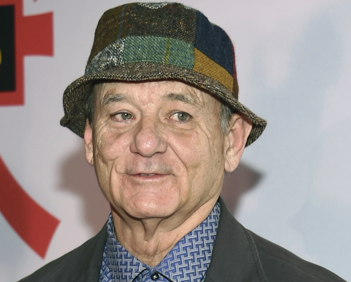 """FILE - In this March 20, 2018, file photo, Bill Murray attends a special screening of """"Isle of Dogs"""" at the Metropolitan Museum of Art in New York. Photographer Peter Simon, brother of Carly Simon, said actor Bill Murray slammed him against a door and poured a glass of water over him while he was making photos of a band Wednesday, Aug. 8, 2018, at a restaurant in Oak Bluffs, Mass., on the island of Martha's Vineyard. (Photo by Evan Agostini/Invision/AP, File)"""