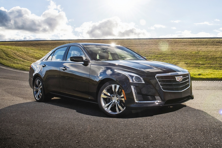 This undated photo provided by Cadillac shows the 2017 CTS. With strong acceleration, excellent handling and an attractive cabin, the Cadillac CTS has what it takes to rival Europe's best sedans. Its touch-based controls can be frustrating to use, but this capable, sporty luxury sedan has more strengths than weaknesses. (Courtesy of General Motors via AP)