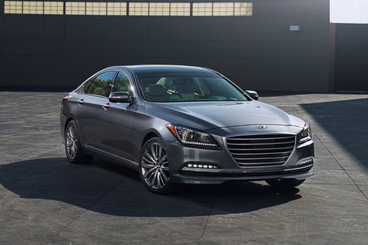 This photo provided by Hyundai shows the 2015 Genesis sedan. The Genesis is a true luxury competitor. It has a comfortable interior trimmed in premium materials, easy-to-use tech features that you'd expect from a luxury car, and a choice of two strong engines. (Courtesy of Hyundai Motor America via AP)