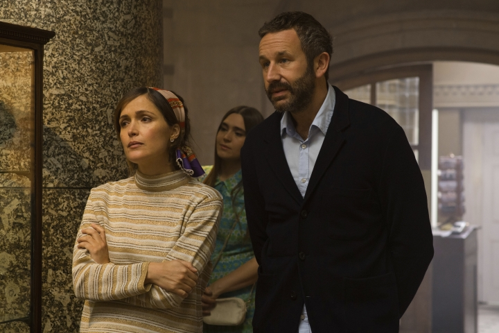 "This image released by Lionsgate and Roadside Attractions shows Rose Byrne, left, and Chris O'Dowd in a scene from ""Juliet, Naked."" (Alex Bailey/Lionsgate and Roadside Attractions via AP)"