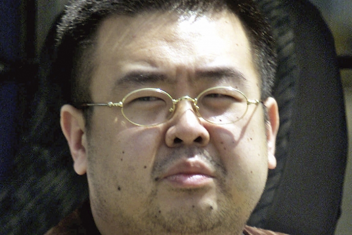 """FILE - This May 4, 2001, file photo shows Kim Jong Nam, exiled half-brother of North Korea's leader Kim Jong Un, in Narita, Japan. Two women on trial for the brazen assassination of the North Korean leader's half-brother were told Thursday to make their defense after the judge found evidence of a """"well-planned conspiracy,"""" extending their murder trial until next year. (AP Photo/Shizuo Kambayashi, File)"""