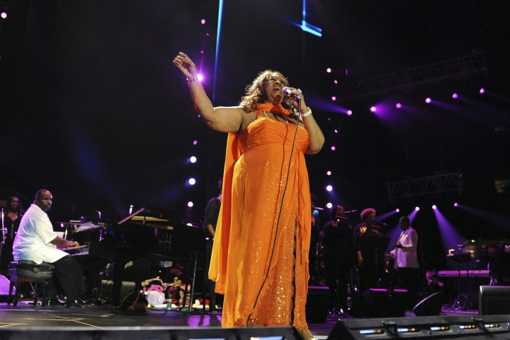 FILE - In this July 8, 2012 file photo, Aretha Franklin performs at the Essence Music Festival in New Orleans. Franklin died Thursday, Aug. 16, 2018 at her home in Detroit. She was 76. (Photo by Cheryl Gerber/Invision/AP, File)