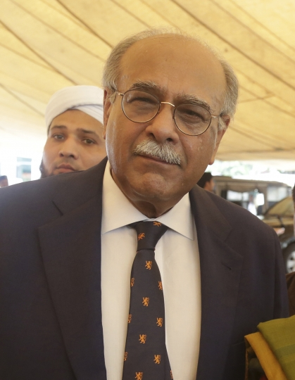 "In this Wednesday, Aug. 15, 2018 photo, Pakistan Cricket Board chairman Najam Sethi arrives at the Punjab Assembly in Lahore, Pakistan. Sethi resigned as the Pakistan Cricket Board chairman on Monday, Aug. 20, 2018, just two days after Imran Khan was sworn in as country's prime minister. ""In order to facilitate your objectives in the interest of Pakistan cricket, I hereby submit my resignation as chairman of PCB and Member of its BoG (Board of Governor),"" Sethi wrote in his letter to Khan. (AP Photo/K.M. Chaudary)"
