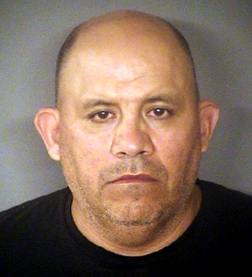 FILE - This file photo provided by the Bexar County Sheriff Office in San Antonio, Texas, shows Jose Nunez, a deputy sheriff who was jailed in June 2018 on charges alleging that he sexually assaulted a 4-year-old girl and threatened her mother with deportation. The Bexar County sheriff's office says Nunez died Monday, Aug. 20 at the jail in nearby Karnes County. Bexar County Sheriff Office via AP, File)
