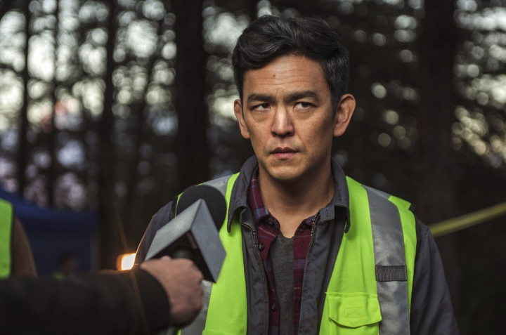 """This image released by Sony Pictures shows John Cho in Screen Gems' thriller """"Searching."""" Cho stars as a father trying to find his missing teenage daughter. (Elizabeth Kitchens/Sony Pictures via AP)"""