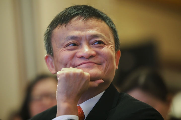 In this June 25, 2018, photo, Jack Ma, chairman of Alibaba Group attends the ceremony to launch a blockchain-base remittance solution in Hong Kong. Jack Ma, who founded e-commerce giant Alibaba Group and helped to launch China's online retailing boom, announced Monday, Sept. 10, 2018 that he will step down as the company's chairman next September. In a letter released by Alibaba, Ma said he will be succeeded by CEO Daniel Zhang. Ma handed over the CEO's post to Zhang in 2013 as part of what he said was a succession process developed over a decade. (Chinatopix via AP)