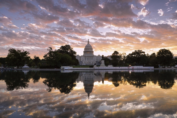 FILE - in this Oct. 10, 2017, file photo, the U.S. Capitol is seen at sunrise, in Washington. Control of Congress and the future of Donald Trump's presidency are on the line as the 2018 primary season winds to a close this week, jumpstarting a two-month sprint to Election Day that will test Democrats' ability to harness a wave of opposition to Trump and whether the president can motivate his staunch supporters when he's not on the ballot. (AP Photo/J. Scott Applewhite, File)