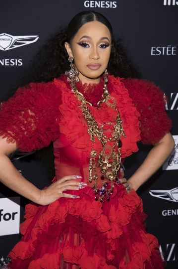 """Cardi B attends the Harper's BAZAAR """"ICONS by Carine Roitfeld"""" party at The Plaza on Friday, Sept. 7, 2018, New York. (Photo by Charles Sykes/Invision/AP)"""