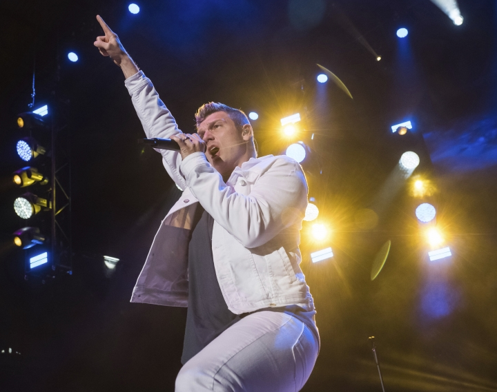 FILE - In this June 16, 2018 file photo, Backstreet Boys member Nick Carter performs at KTUphoria 2018 in Wantagh, N.Y. Prosecutors in Los Angeles have declined to file charges against Carter after a singer reported last year that he had raped her in his apartment in 2003. Prosecutors said Tuesday, Sept. 11, 2018, that because the woman, Melissa Schuman from the group Dream, was 18 at the time, the statute of limitations expired in 2013. They did not evaluate the merits of Schuman's story. (Photo by Charles Sykes/Invision/AP, File)