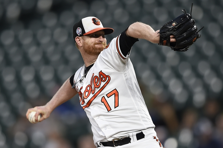 Baltimore Orioles pitcher Alex Cobb throws against the Oakland Athletics in the first inning of a baseball game, Tuesday, Sept. 11, 2018, in Baltimore. (AP Photo/Gail Burton)