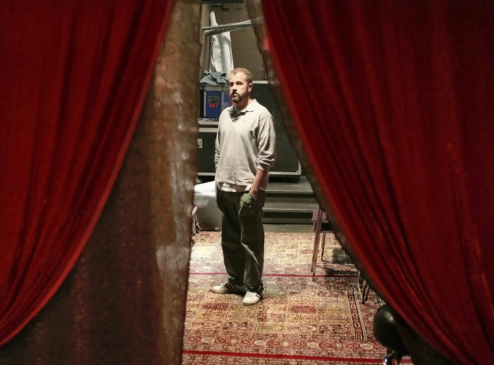 """FILE - In this May 14, 2008 file photo, James Frey, author of """"A Million Little Pieces,"""" poses in the basement of the Blender Theater in New York. Frey's book, once one of the most toxic properties in Hollywood, has been reborn on the big screen thanks to director Sam Taylor-Johnson and her actor husband, Aaron, whom she wrote it with. The film made its debut at the Toronto International Film Festival where it's seeking distribution. (AP Photo/Bebeto Matthews, File)"""