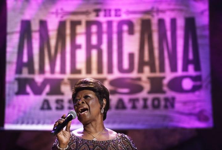 Irma Thomas performs during the Americana Honors and Awards show, Wednesday, Sept. 12, 2018, in Nashville, Tenn. (AP Photo/Mark Zaleski)