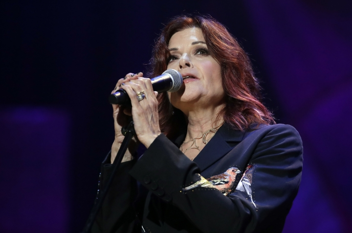 Rosanne Cash performs during the Americana Honors and Awards show Wednesday, Sept. 12, 2018, in Nashville, Tenn. (AP Photo/Mark Zaleski)