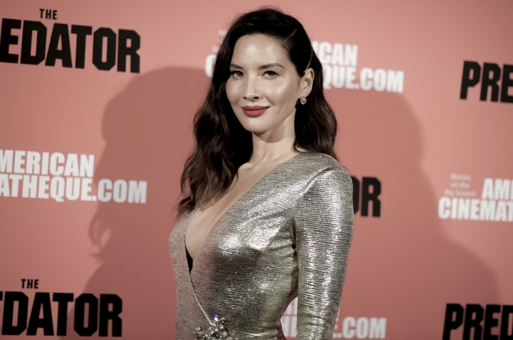 """Olivia Munn attends a special screening of """"The Predator"""" at Grauman's Egyptian Theatre on Wednesday, Sept. 12, 2018, in Los Angeles. (Photo by Richard Shotwell/Invision/AP)"""