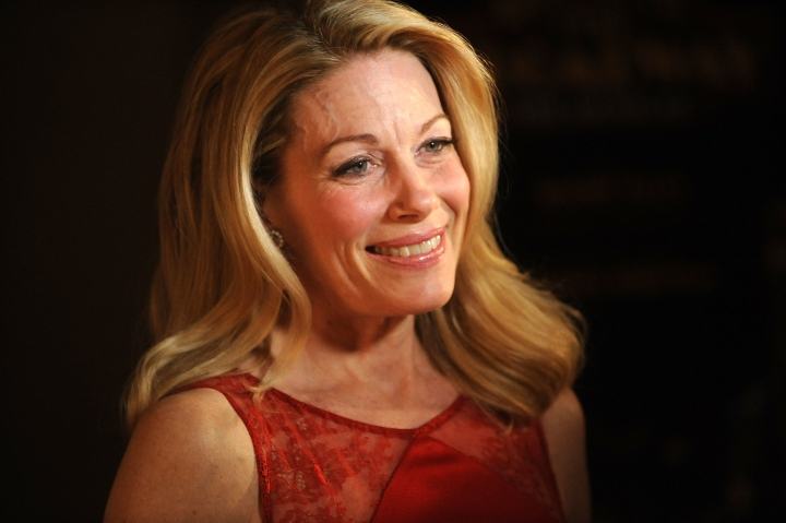 """FILE - In this April 10, 2014 file photo, actress Marin Mazzie attends the after party for the opening night of """"Bullets Over Broadway"""" in New York. Mazzie, who battled ovarian cancer starting in 2015, died Thursday, Sept. 13, 2018, at her Manhattan home, said her husband, actor Jason Danieley. She was 57. (Photo by Brad Barket/Invision/AP, File)"""