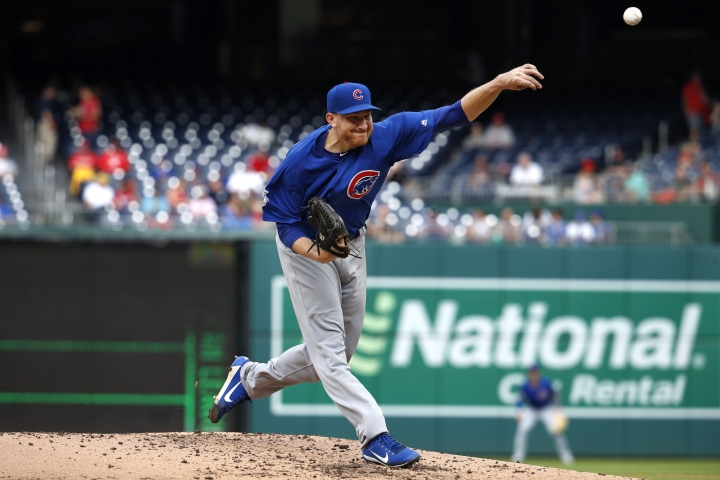 Chicago Cubs pitcher Mike Montgomery delivers in the third inning of a baseball game against the Washington Nationals, Thursday, Sept. 13, 2018, in Washington. (AP Photo/Jacquelyn Martin)