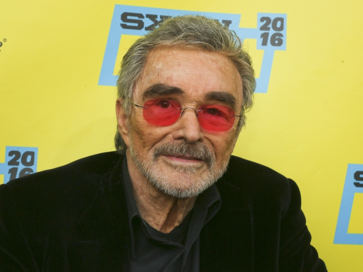 """FILE - In this March 12, 2016 file photo, actor Burt Reynolds appears at the world premiere of """"The Bandit"""" during the South by Southwest Film Festival in Austin, Texas. Reynolds' friends and relatives shared memories of the late actor at a private memorial service. A family spokeswoman says Reynolds' ex-wife Loni Anderson and their son Quinton Anderson Reynolds were among the speakers at the Thursday, Sept. 20, 2018, service at Quattlebaum Funeral Home in North Palm Beach, Fla. (Photo by Jack Plunkett/Invision/AP, File)"""