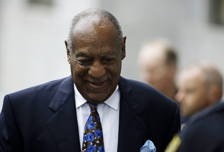 Bill Cosby arrives for his sentencing hearing at the Montgomery County Courthouse, Monday, Sept. 24, 2018, in Norristown Pa. (AP Photo/Matt Rourke)