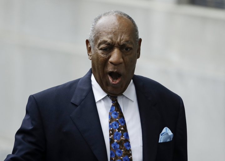 Bill Cosby arrives for his sentencing hearing at the Montgomery County Courthouse, Monday Sept. 24, 2018, in Norristown Pa. (AP Photo/Matt Rourke)